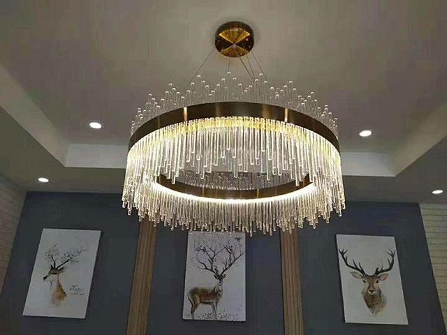 led客厅楼梯圆环形灯
