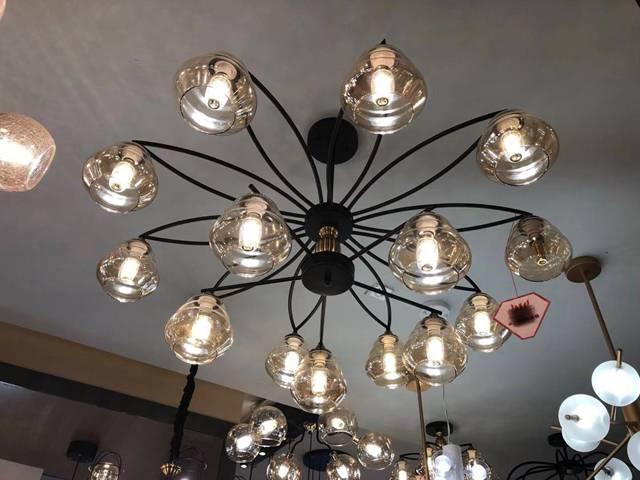 led轻奢水母造型客厅灯
