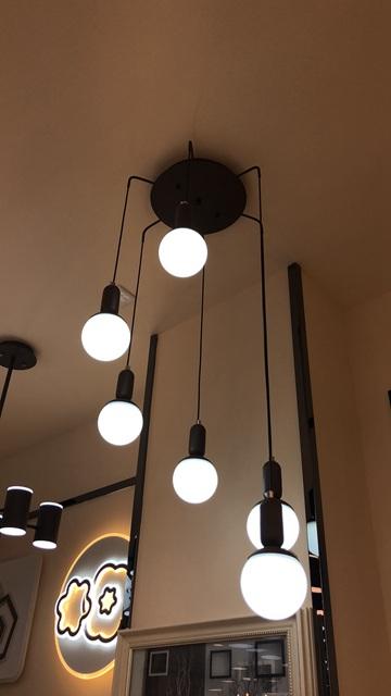 led圆盘艺术餐厅灯